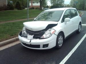 Photo of My Car (2011 Nissan Versa) after the crash